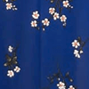 White/Pink Floral in Blue Ground