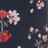 Red Floral Print In Black Ground