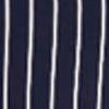 White Stripe In Navy Ground